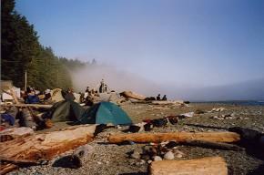 Zelte am Strand
